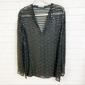 Emporio Armani Silk sequin Swim Cover Up (N24)